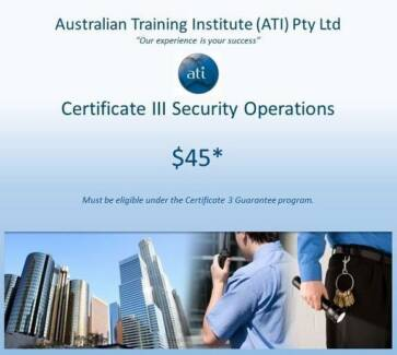 TOWNSVILLE Government FUNDED Cert III in Security Operations Townsville City Preview