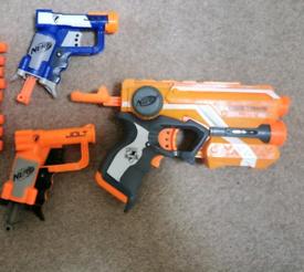Nerf elite fire strike 3 guns and 5 bullets