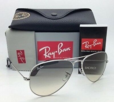 Ray-Ban RB3025 003/32 55mm Aviator Sunglasses Silver/Gray (SMALL)