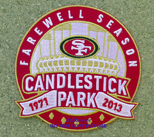 SF San Francisco 49ers Candlestick Park Farewell Season Patch