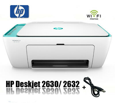 HP DESKJET 2630 / 2632 MULTIFUNKTIONS WIFI DRUCKER SCANNER KOPIERER  * NEU *