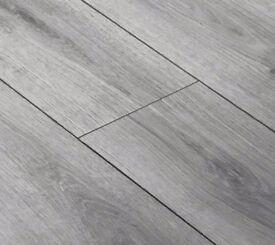Kronotex Superior summer oak grey 12mm laminate flooring - £20 per pack (1.3m)