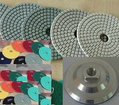 4 Diamond Polishing Pad 105 Pieces 3 Aluminum Backer Granite Stone Travertine