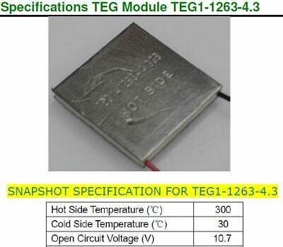 30x30mm 300c Thermoelectric Generator--shipped From U.s.a.