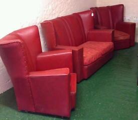 Sofa With Two Matching Armchairs