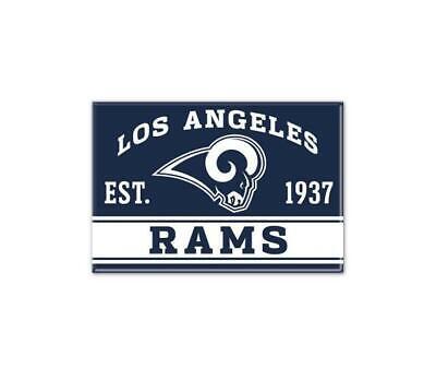 o Magnet mit Logo,NFL Football,Team Gründungsjahr (Los Angeles Rams Logo)