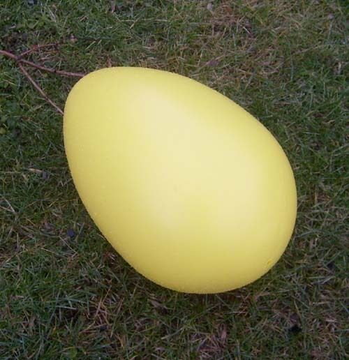 GIANT EASTER EGG - THE BIG LAWN EGG -  BRAND NEW -  YELLOW - free ship