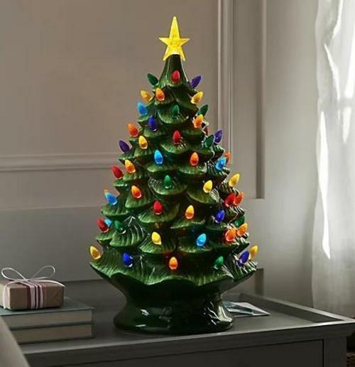 "Mr. Christmas 24"" Oversized Plug-In Nostalgic Tree-Green"