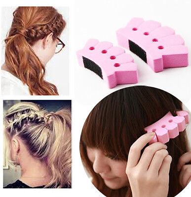 ZOPF 04 Frisurenhilfe Haarflechte Haarknoten Haar Braider Topsy Tops SCHAUM*