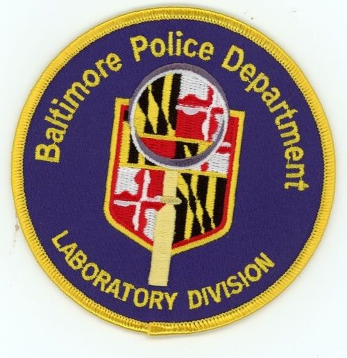 BALTIMORE POLICE MARYLAND MD LABORATORY DIVISION PATCH SHERIFF COLORFUL