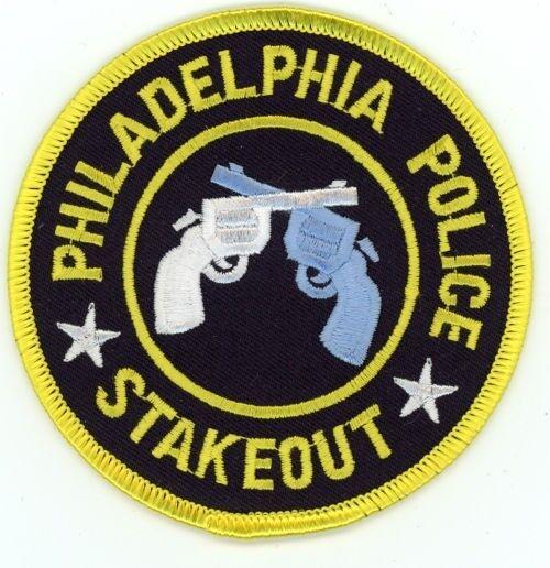 PHILADELPHIA POLICE PENNSYLVANIA PA STAKEOUT PATCH SHERIFF