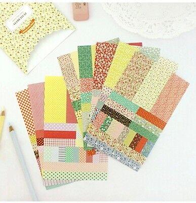 8 sheet beautiful pastoral petit deco notebook ...