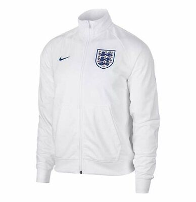England Nike Men's Football Training Track Jacket - S - White - New