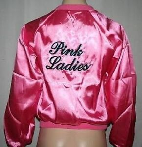Deluxe Quality Pink Lady Jacket Grease Pink Ladies Sandy Frenchie ...