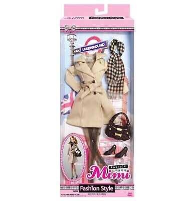 MIMIWORLD Fashion British Style Clothes for MiMi Doll Barbie ( Except Doll )