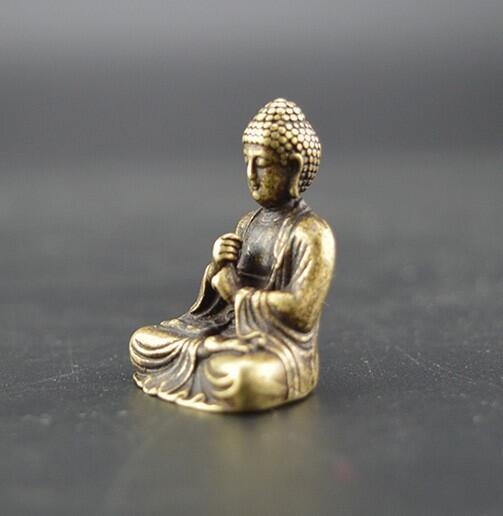 China's pure brass sakyamuni Buddha small statue