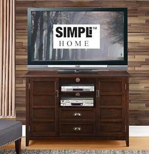 NEW* SIMPLIHOME TALL TV MEDIA STAND TALL TV MEDIA STAND ESPRESSO BROWN 103882432