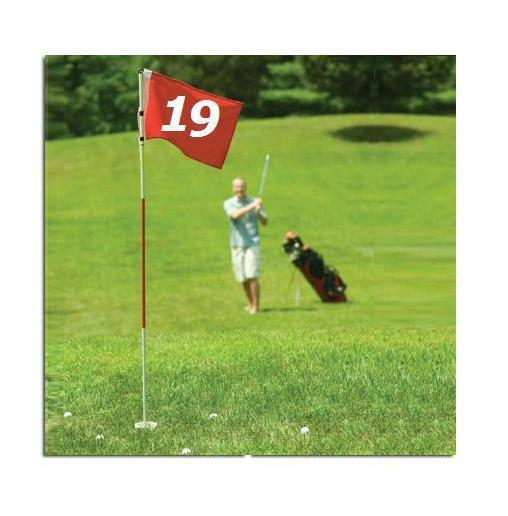 FULL SIZE PRACTICE GOLF FLAG STICK POLE PIN CUP HOLE PUTTING CHIPPING PITCH SET