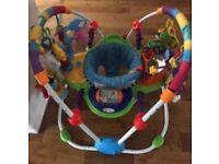 Top quality floor-standing musical metal baby bouncer