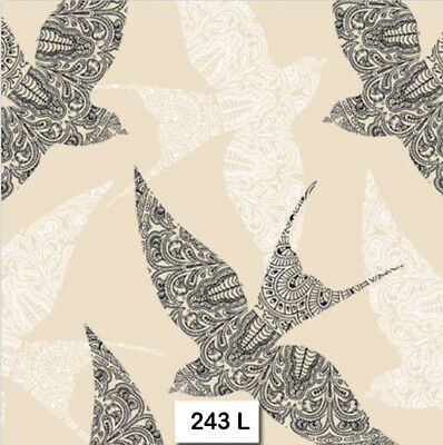 TWO (2) Paper Luncheon Decoupage Napkins (243) LACE, SWALLOWS, BIRDS, ZENTANGLE