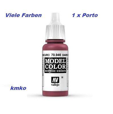 Vallejo 32 70.946 Rojo Oscuro Dark Red Bordeauxrot 17ml 27,06 €/100ml