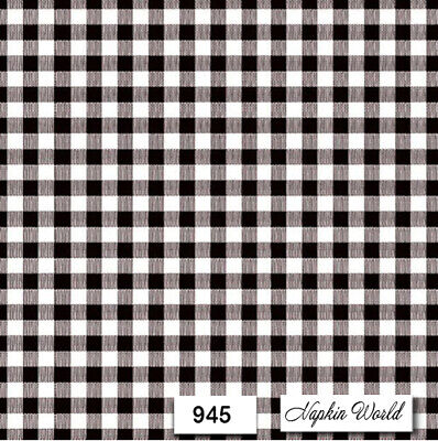 (945) TWO Individual Paper LUNCHEON Decoupage Napkins  BLACK & WHITE CHECK PLAID