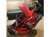 Phil and Ted double buggy with double raincover