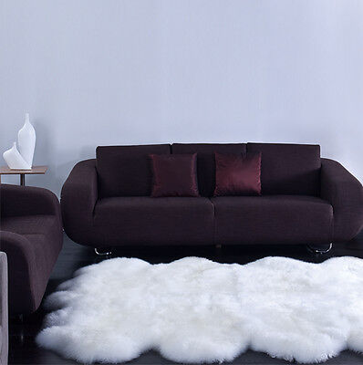 - NEW Octo Pelt LARGE Sheepskin Rug - Ivory - Genuine Real Australian - 6' X 8'