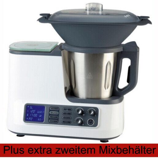 # Küchenmaschine mit Kochfunktion Dampfgaraufsatz, Garkorb WLAN + 2. Mixbehälter