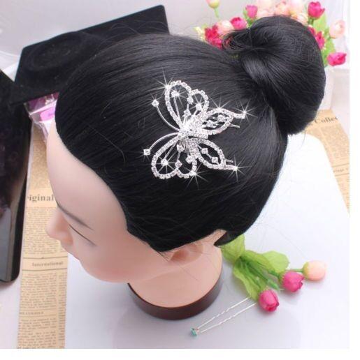 Women Elegant Butterfly Crystal Rhinestone Hair Comb Clip