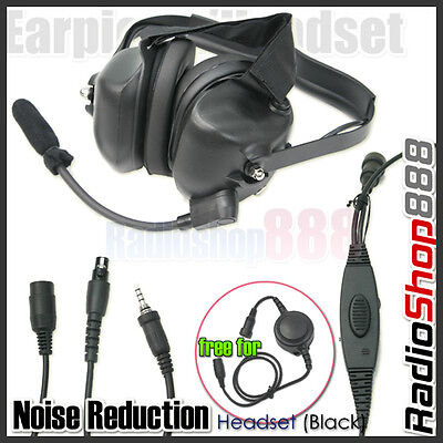 RACING HEADSET HEADPHONE FOR YAESU 2 WAY RADIOS VX-170 VX-177 VX-6R VX-7R