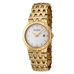 New men's Wittnauer Savoy watch...gold band 11B00