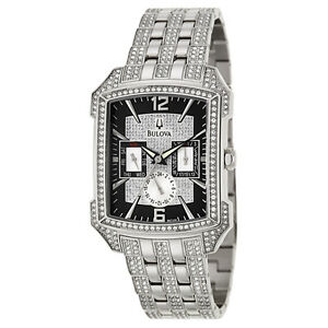 Bulova Crystal Men's Quartz Watch 96C108