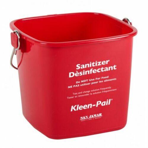 San Jamar 6-Quart Red Kleen-Pail Bucket KP196RD (Pack of 5)