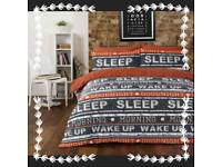 Retro Text Duvet Sets