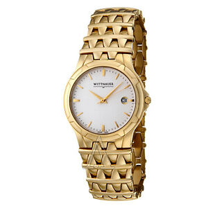 New with tags men's Wittnauer Savoy gold watch.