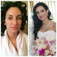 WEDDING/PARTY HAIR & MAKEUP & TRAVEL - $110 TOTAL