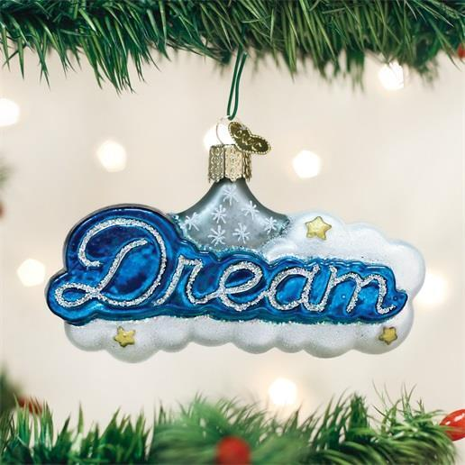 DREAM CLOUDS BLUE & WHITE SLEEP OLD WORLD CHRISTMAS GLASS ORNAMENT NWT 36210