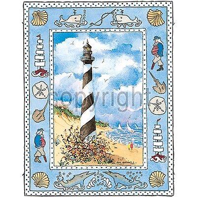 Beach Scene Lighthouse (Lighthouse on Beach Shirt, beach scene, sand & sun, Small - 5X, womans, ladies )