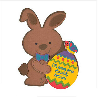 Spring Crafts For Kids (Chocolate Easter Bunny Magnetic Craft Kit for Kids Spring Self-Adhesive)
