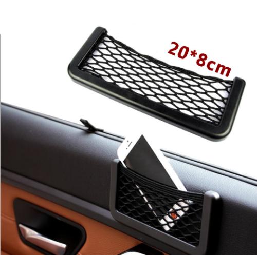 20*8cm Small Car Seat Side Back Storage Nylon Net Mesh Bag Pocket Organizer EA