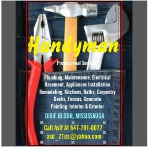HANDY MAN SERVICES IN MISSISSAUGA