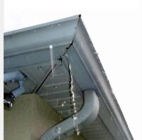 Gutter and downspout repair services available.