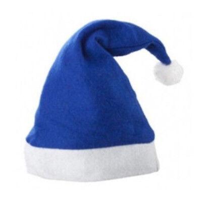 12 x Weihnachtsmütze blau weiß Nikolaus Mütze Bommel Weihnachten Weihnachtsmann
