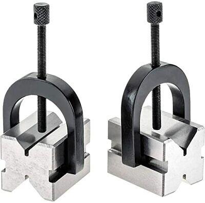 Precision Engineers Vee Blocks Clamp Set - V Block Matched Pair 1-58 X 1-14