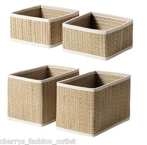 Ikea salnan 2 pack of handmade seagrass storage baskets - Ikea portaoggetti ...
