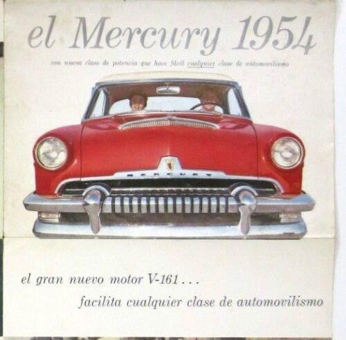 1954 Mercury Sale Brochure Monterey Sun Valley Custom Spanish Mexico Sud America