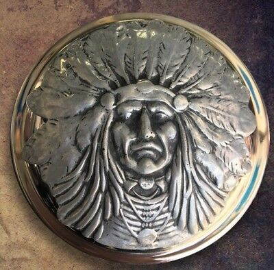 Indian Motorcycle Gas Cap Medallion - Silver