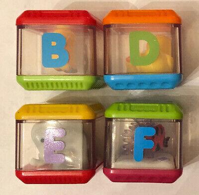 Fisher Price PEEK A BLOCK Blocks Letter B D E F ALPHABET Replacement Piece Lot