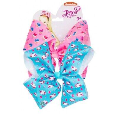 JoJo Siwa 2 Pack Hair Bows EXTRA LARGE Printed Girls Fashion Jo Jo Clip on